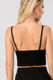 Faux Leather Cami Crop Top