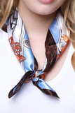 Luxe Chain Links and Baroque Print Scarf