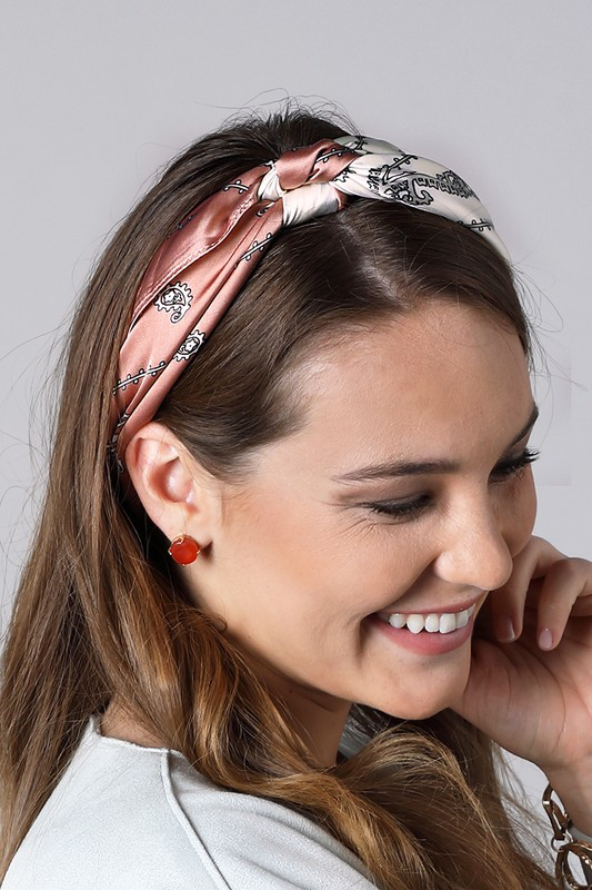 Luxe Duo-Tone Paisley Print Bandanna Scarf