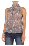 Paisley Sleeveless Turtleneck