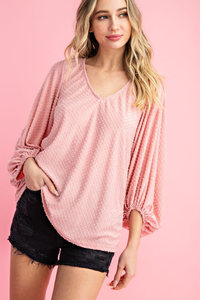 Flock Polka Dot Blouse