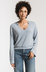 The Sweater Knit Notch Front