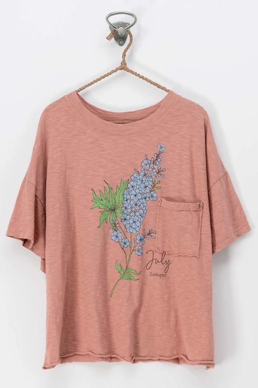 Floral Print Relaxed Tee