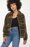 The Camo Sherpa Crop Jacket