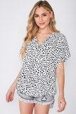 Animal Patterned Surplice Top