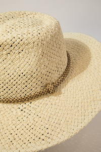 Fedora With Beaded Trim