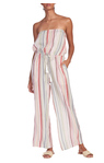 Strapless Stripped Jumpsuit