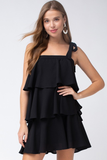 Ruffle Tiered Square Neck Dress
