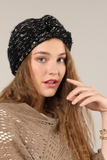 Soft boucle Knit Knot Head Wrap