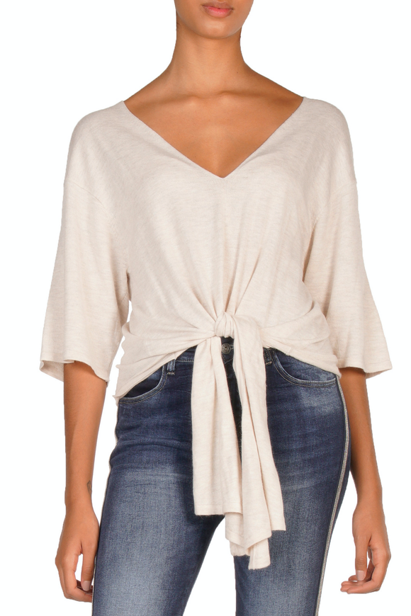 V-Neck Long Tie Top