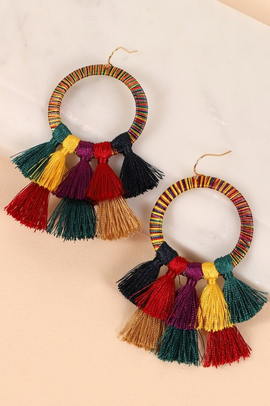 Dangle Earrings With Tassels