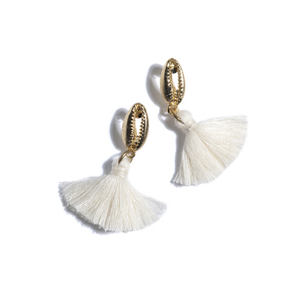 Malapascua Gold Shell Earrings