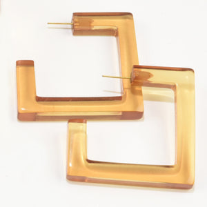 Lucite Square Hoops