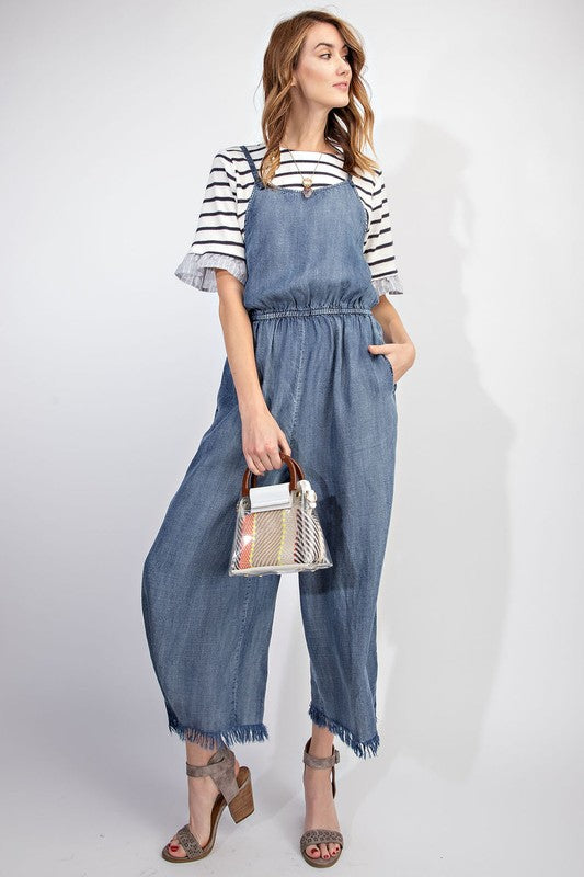 Juniper Frayed Denim Jumpsuit