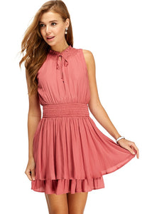 Smocked Layer Hem Dress