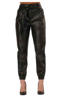 Belted Leather Pants