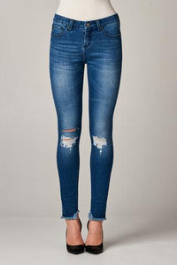 Gisele High Rise Skinny in Monument