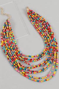 Multi Layered Seed Bead Necklace