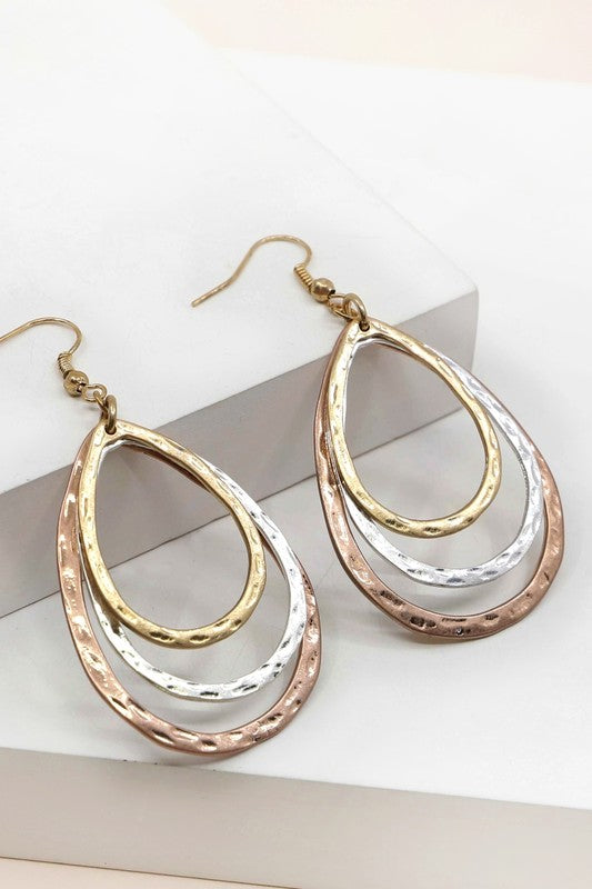 Multi Layered Metal Earrings