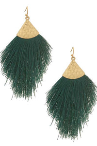 Messy Thread Tassel Earrings