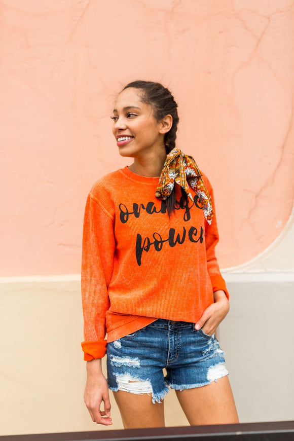 Orange Power Sweatshirt