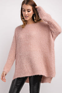 Mohair Over-Sized Knit Sweater