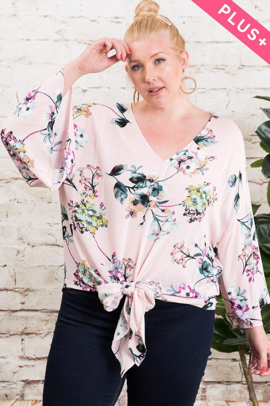 Flower Print Tied Top