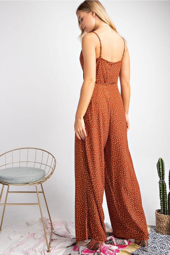 Satin Polka Dot Jumpsuit