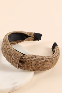 Straw Top Knot Headband
