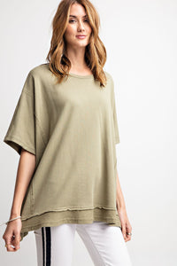 Boxy Terry Knit Top