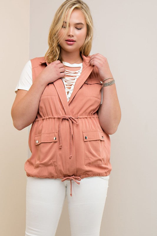 Curvy Girl Zip Up Vest
