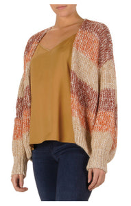 Warm Striped Cardigan