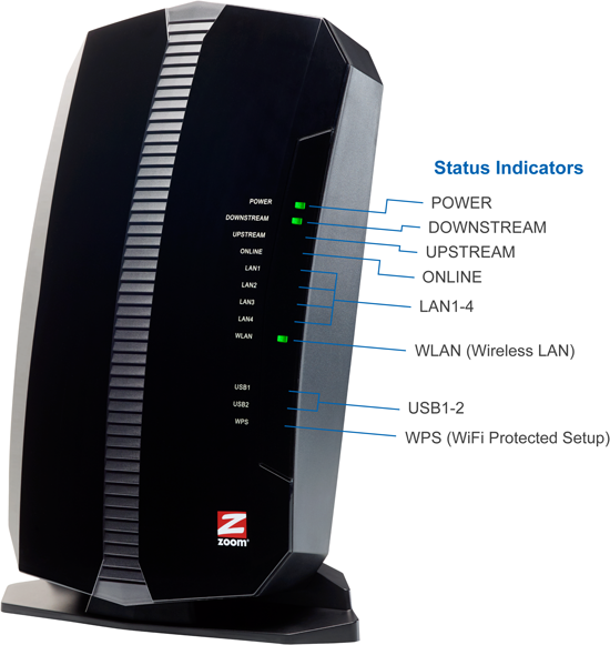 ZOOM TELEPHONICS 5354 N300 Cable Modem/Router