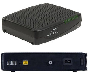 Rear view ARRIS TM822G DOCSIS 3 APPROVED COMCAST PHONE MODEM + NETGEAR R6300 A/C WIFI ROUTER - Buyapprovedmodems.com