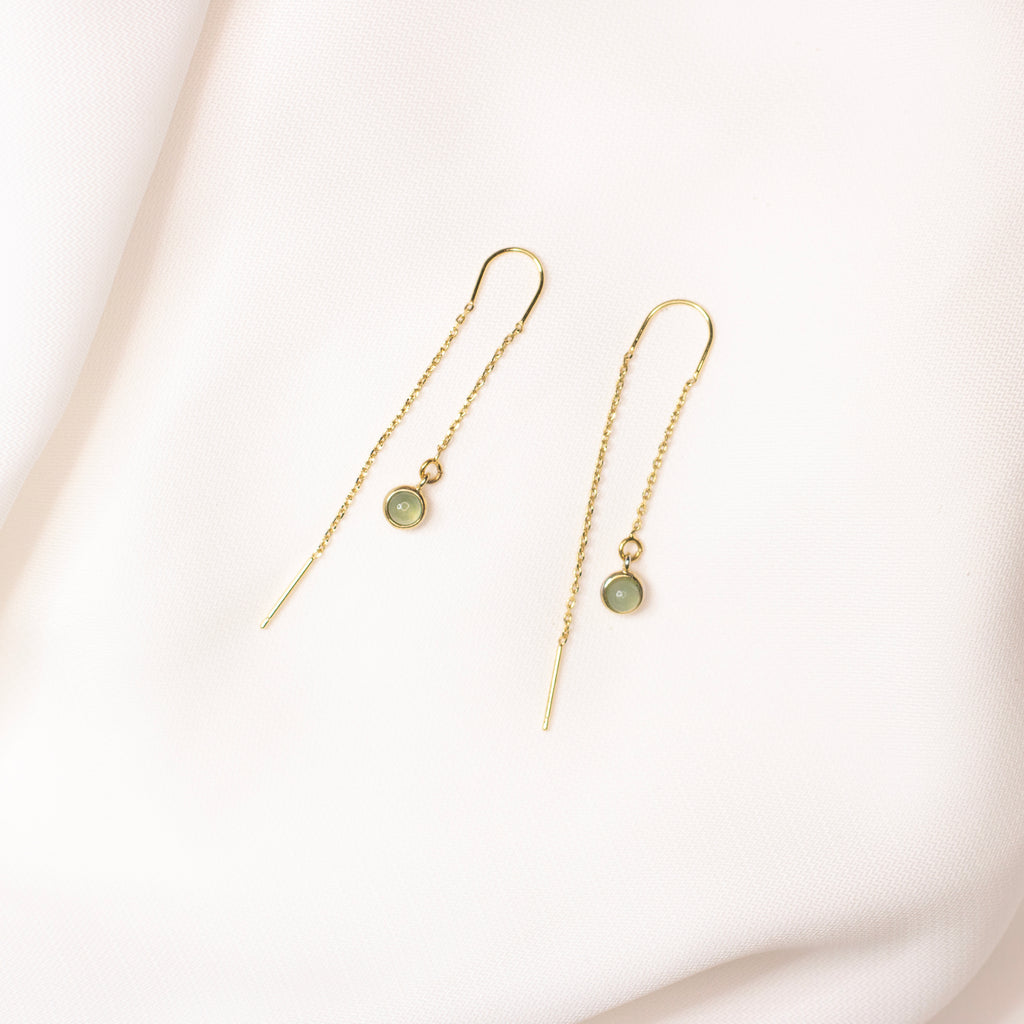 Aza Green Aventurine Earrings