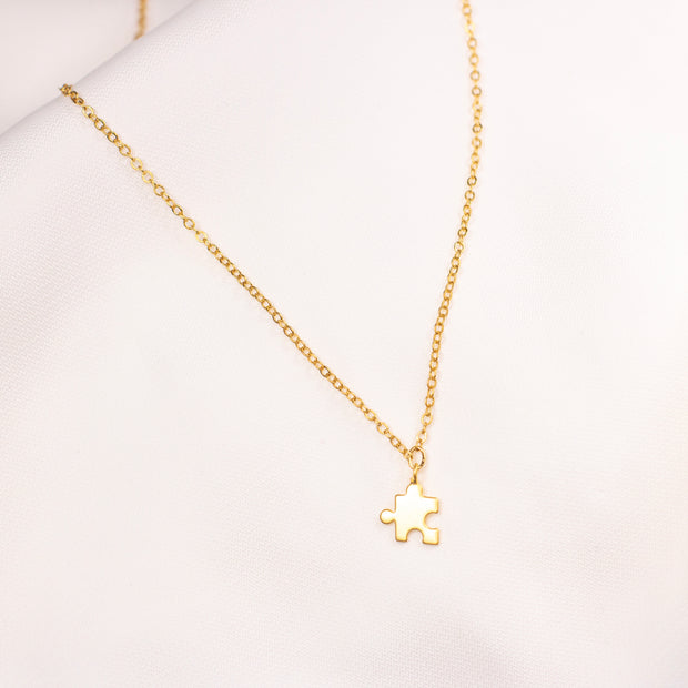 Puzzel Gold Plated Necklace 1