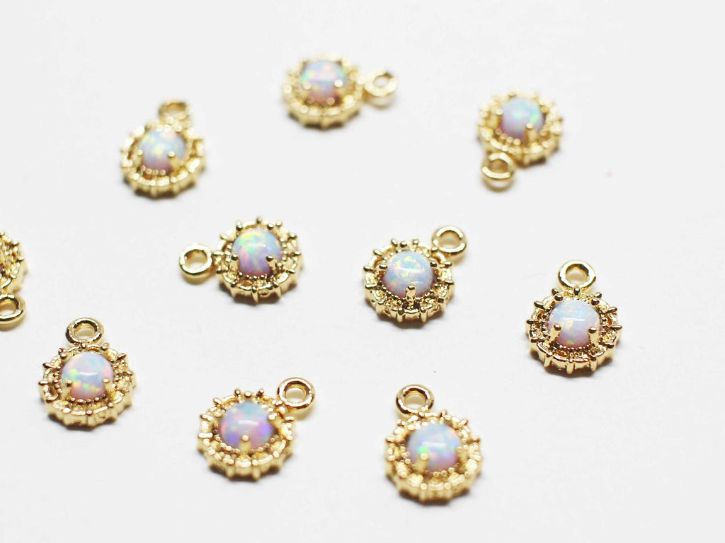 Alli Mini Opal Star Earrings