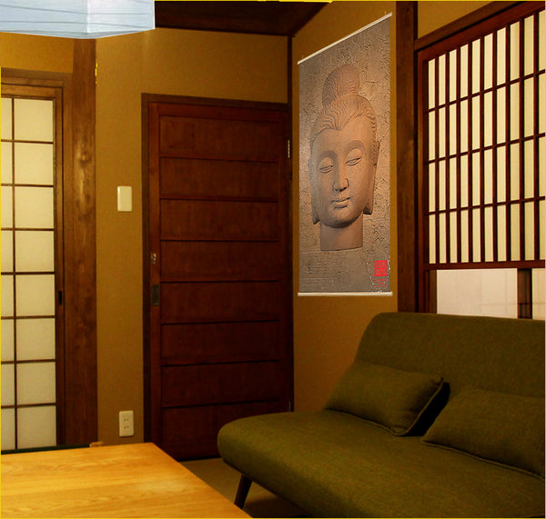 Buddha Wall Pictures - Korean Antique Kakémono scrolling poster AK-014