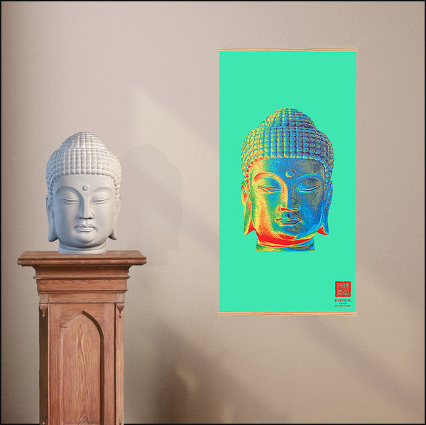 Large Meditation Poster - Korean Colorful Kakemono scrolling poster CK-001