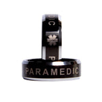 Golden Tone 8MM Black Awesome Paramedic Tungsten Carbide Ring