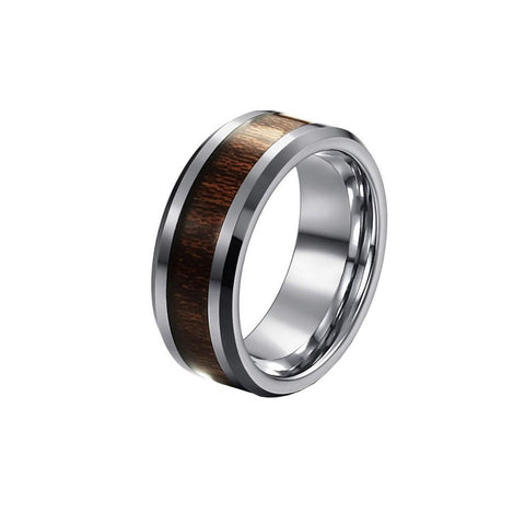 BRAND NEW *** Tungsten Wood Vintage Ring