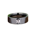 Bold Black 8MM Tungsten EMT Ring
