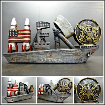 UNITED STATES NAVY MILITARY HERO PLAQUE SIGN DECORATION SCULPTURE Unique Gift