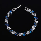 2017 Summer Design White Gold Plated Austrian Royal Blue Crystal
