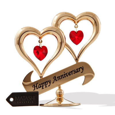"24K Gold Plated Beautiful ""Happy Anniversary"" Gift"