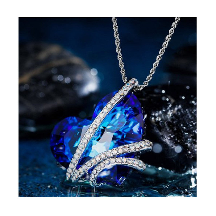 """Heart of the Ocean"" Pendant Necklace"