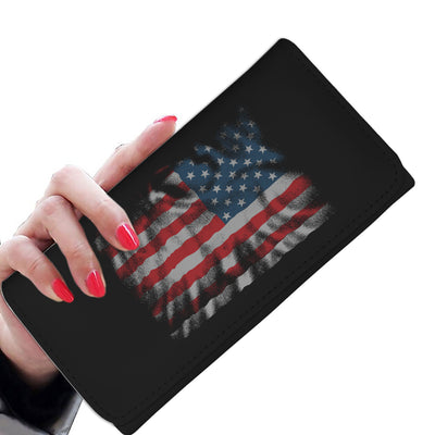 Usa Flag Womens Wallet
