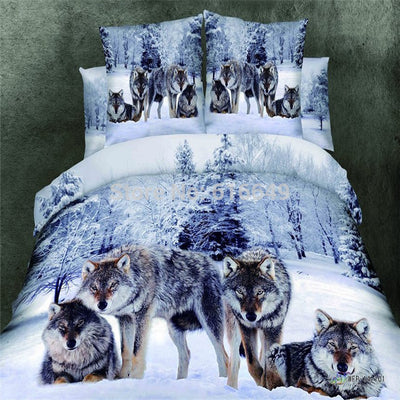 High Quality 3D Bedding Set Wolf Animal