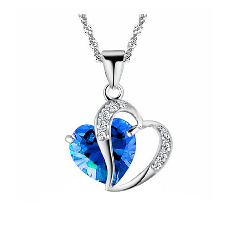 Beautiful Blue Heart Necklace