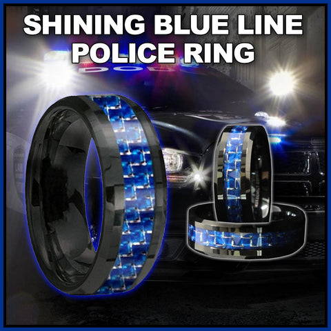 BRAND NEW EDITION*** Attractive Tungsten Ring with Carbon Fiber 8mm Black and Blue